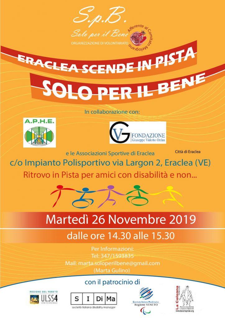 LOCANDINA ERACLEA SCENDE IN PISTA SOLO PER IL BENE 26.11.19